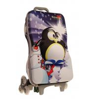 Wholesale Cartoon Penguin Kids Rolling Backpack For School , Customized from china suppliers