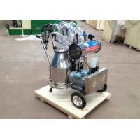Wholesale Two Buckets Mobile Milking Machine , Vacuum Pump Dairy Milking Equipment from china suppliers