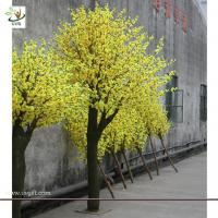 Wholesale UVG CHR025 indoor garden decoration artificial blossom yellow cherry tree 10ft high from china suppliers