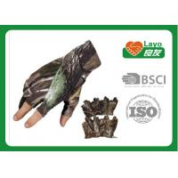 Wholesale Military Camo Hunting Gloves Open Finger With Flexiable Knukle from china suppliers
