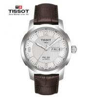 Wholesale Mechanical 39mm Silver Case Watch Leather With Minutes Display from china suppliers