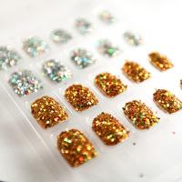 Wholesale Nice Artificial 3D Fake Nail For children , winter 3D Glitter Fake Nails from china suppliers