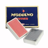 Wholesale XF Italy Modiano Club Poker|Da Vinci Club Casino| Red/Blue Regular 2 Deck Set|2 regualar index|gamble cheat|magic dice from china suppliers