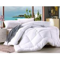 Quality Polyester Microfiber Filling Comforter White Hotel Duvet / Quilt with Binding for sale