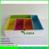 Wholesale LDKZ-044  Fasion steel frame storage box pp strap woven storage basket for organization from china suppliers
