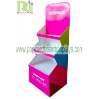 Quality Color printing cup Corrugated Cardboard Display stand glossy lamination ENCC125 for sale