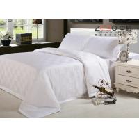 Wholesale 250TC Hotel Bed Linen 100 Cotton Satin Square Design Bed Cover Hotel from china suppliers