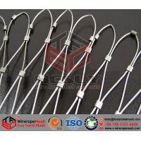 Wholesale Stainless Steel Wire Rope Mesh, Stainless Steel Wire Cable Mesh, Webnet, Helideck Mesh from china suppliers