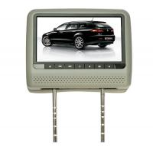 Buy cheap Grey 9 Inch HD LED OSD MENU 8 Bit / 32 bit SD, USB, IR, FM, Games Car Headrest DVD Players from wholesalers