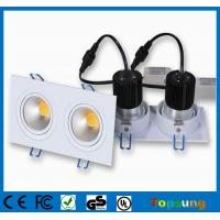 Wholesale 2X10W 2000 lumens led cob downlight dimmable cob led track light 2 years warranty from china suppliers