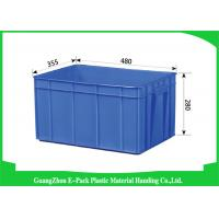 Wholesale Big Capacity Plastic Stackable Containers Warehousing Transportation Blue from china suppliers