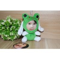 Wholesale Eco-friendly soft plush 10CM Frog shape 3D Face Dolls , stuffed dolls with photo faces from china suppliers