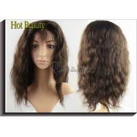 Wholesale Long Brown Curly Brazilian Human Hair Full Lace Wigs for Thin Hair 120g - 200g from china suppliers
