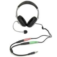 Wholesale Headset adapter for headsets with separate headphone / microphone plugs - 3.5mm 4 position from china suppliers