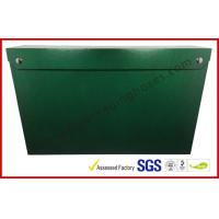 Wholesale Leather Paper Material Magnet Folder Box , Green Color Office Storage Box from china suppliers