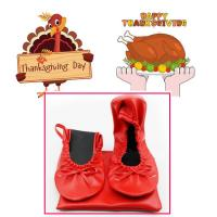 Wholesale Best Thanksgiving Day Gift 2018 Customized Foldable Ballet Shoes with Cheapest Price in China from china suppliers