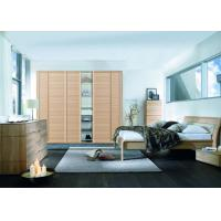 Wholesale Solid Oak Wood Veneer Sliding Door Wardrobes , Free Standing Bedroom Sliding Wardrobes from china suppliers