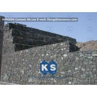 Wholesale Customized Galvanized Galfan PVC PE Reinforced Gabion Wall Flexible Protective Mesh from china suppliers