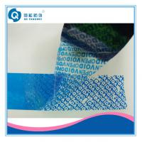 Wholesale Custom Printed Packing Tape , White / Blue Tamper Evident Security Tape from china suppliers