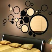 Wholesale acrylic mirror decorative wall sticker from china suppliers