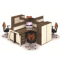 Wholesale Multi Color Office Furniture Partitions  , Frosted Glass And Metal Board Desk Open 4 Person Office Workstation from china suppliers