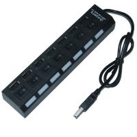Wholesale 7 Super Speed USB 2.0 Laptop Usb Hub 7 Port , On / off portable usb hub from china suppliers