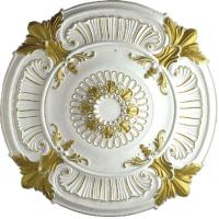 Wholesale PU medallion ceiling medallion gold sketch effect pu cornice moulding pu ceiling light pu medallion (HM-009) from china suppliers