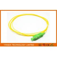 Wholesale Pigtails SC APC Singlemode Simplex 3 M 900 um PVC Yellow Fiber Optic Cable from china suppliers