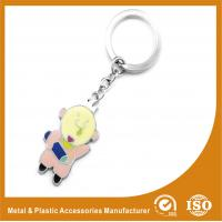 Wholesale Personalizable Pig Custom Metal Keychains Two Colors Plating from china suppliers