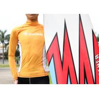Buy cheap Sunscreen Lycra Rash Guard Nylon Orange Sportswear Surfing long sleeve T-shirt from wholesalers