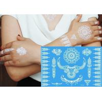 Wholesale White Color Henna Temporary Tattoo Stickers , Body Jewelry Tattoo Stickers from china suppliers