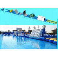 Wholesale Blue White Outdoor Inflatable Water Park For Lake , Inflatable Water Trampoline from china suppliers