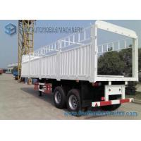 Wholesale Load Capacity 30 T 40 T Fenced Flatbed Semi Trailer , 2 axle Truck Length 10 m from china suppliers