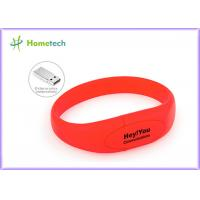 Wholesale Red Silicone Bracelet Usb Flash Drive Wristband Flash Memory Stick from china suppliers