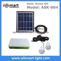 Wholesale DC Indoor Solar Home Lighting System Kit With 2 Bulbs 5M Wire Solar Emergency Camping Light Can Charge Mobile Cell Phone from china suppliers