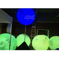 Wholesale Attractive Inflatable Lighting Balloon Planet Shaped With Stainless Stand Pole from china suppliers