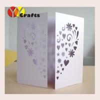 Wholesale Invitation card for wedding decoration Laser cut heart flower wedding invitation cards from china suppliers