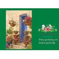 Wholesale Wall Wire Hanging Flower Baskets With Recycled Post Consumer Plastic Liner from china suppliers