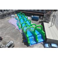 Wholesale Excited Giant Inflatable Slide , Outdoor Long Green Inflatable City Water Slide from china suppliers