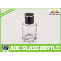 Wholesale High Quality Custom Glass Perfume Bottle 50ml With Black Cap Clear Color from china suppliers