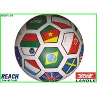 Wholesale Official Size Colored Flag Soccer Ball Customized , Smooth Golf Pebble Printing from china suppliers