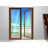 Wholesale 0.8 mm  Patio Swing Interior Double Opening Doors Wood Grain Durable Safety from china suppliers