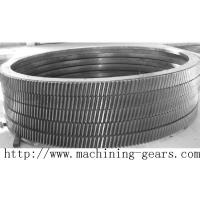 Wholesale Large Transmission Helical Rack Gear Carbon Steel Material Tooth Ring from china suppliers