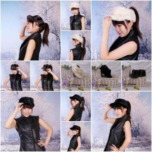 Wholesale Women'sFur Hat Mink Fur Hats Mink Fur Cap Mink Fur Headgear Fur Chapeau 3 Colors Sable Fur Hats from china suppliers