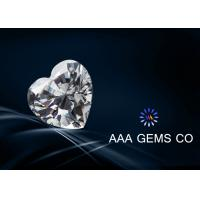 Wholesale Heart Cut 9mm White Moissanite , Loose Moissanite Stones Ri 2.65 - 2.69 from china suppliers