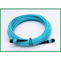 Wholesale Multimode OM3 MPO Fiber Optic Patch Cord 25m 12 Strand MTP Key Up To Key Down from china suppliers