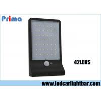 Wholesale 42 LED White Light Solar Wall Lamp With Human Body Sensor & Light Control & Slightly Bright Black White from china suppliers