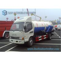 Wholesale JAC 141hp 3000 L Sewage Suction Truck  With Special Vacuum Pump from china suppliers