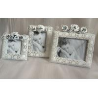 "Wholesale 4x4"" Antique White Metal Flower Personalized Photo Frames For Home Use from china suppliers"
