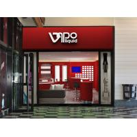 Quality Popular Electronic cigarette selling Store Interior fitout design Display red wall cabinet and Glass showcase for sale